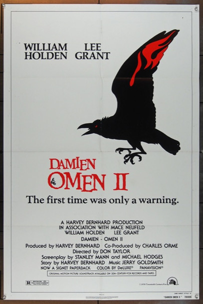 DAMIEN OMEN II (1978) 5089 20th Century Fox One Sheet Poster   27x41  Folded   Very Good Condition