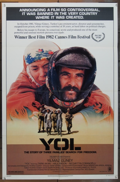 YOL (1982) 5032 Columbia Pictures Original One Sheet Poster   27x41  Folded
