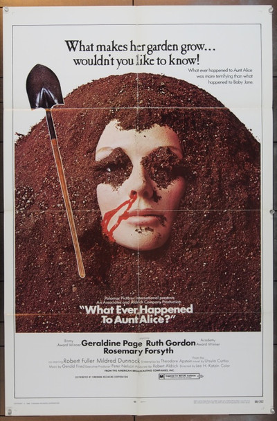 WHATEVER HAPPENED TO AUNT ALICE? (1969) 5029 Cinerama Releasing One Sheet Poster  27x41  Folded  Very Good Condition