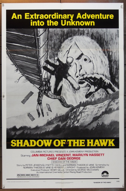 SHADOW OF THE HAWK (1976) 12113 Original Columbia Pictures One Sheet Poster (27x41).  Folded.  Very Fine Condition.