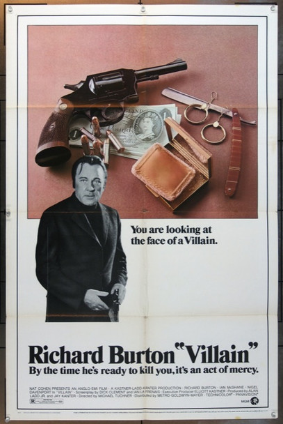 VILLAIN (1971) 5024 MGM-EMI Original One Sheet Poster   27x41