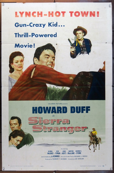 SIERRA STRANGER (1957) 5036 Columbia Pictures One Sheet Poster   27x41  Folded.  Good Condition