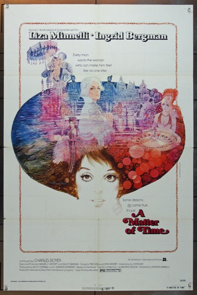 MATTER OF TIME, A (1976) 5058 American International One Sheet Poster   27x41  Folded