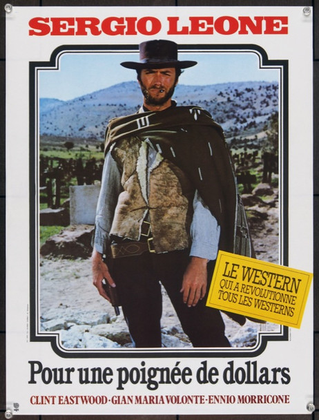 FISTFUL OF DOLLARS, A (1964) 4681 Unidis Re-release French Poster  16x21  Very Fine Condition