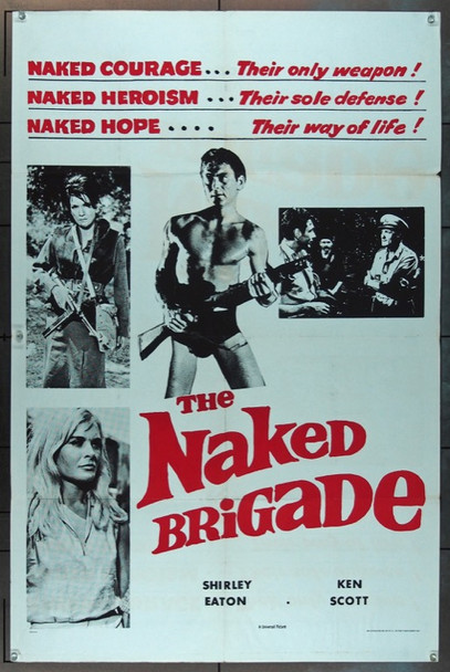 NAKED BRIGADE, THE (1965) 11287 Original Universal Pictures One Sheet Poster (27x41).  Folded.  Very Good.