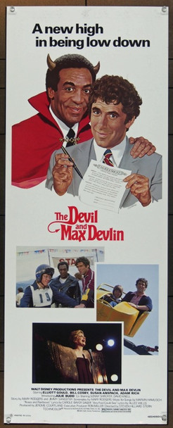 DEVIL AND MAX DEVLIN, THE (1981) 12461 Original Walt Disney Productions Insert Poster (14x36).  Never Folded.  Very Fine.