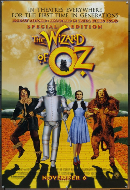 WIZARD OF OZ, THE (1939) 25289 Original Re-release One Sheet Poster of 1998