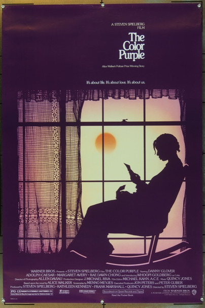 COLOR PURPLE, THE (1985) 252 Original Warner Brothers One Sheet Poster (27x41).  Rolled.  Very Fine Plus Condition.