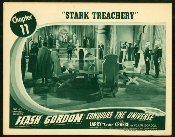 FLASH GORDON CONQUERS THE UNIVERSE (1940) 9514 Original Universal Pictures Scene Lobby Card (11x14) [Chapter 11 STAR TREACHERY].  Fine Plus Condition.