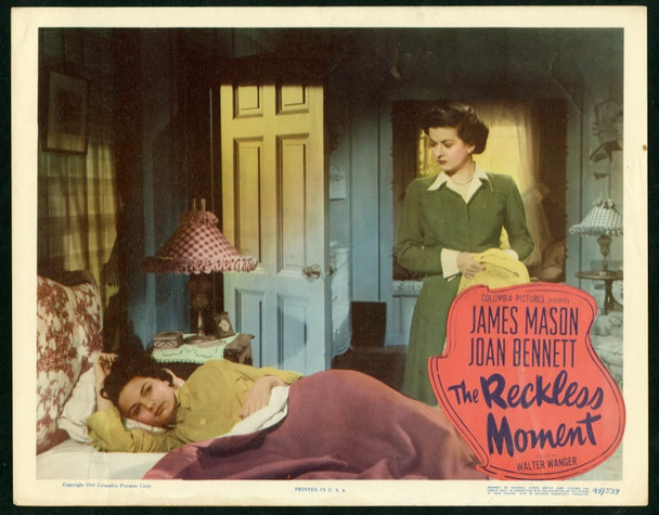 RECKLESS MOMENT, THE (1949) 25366 Original Columbia Pictures Scene Lobby Card (11x14).  Very Fine Condition.