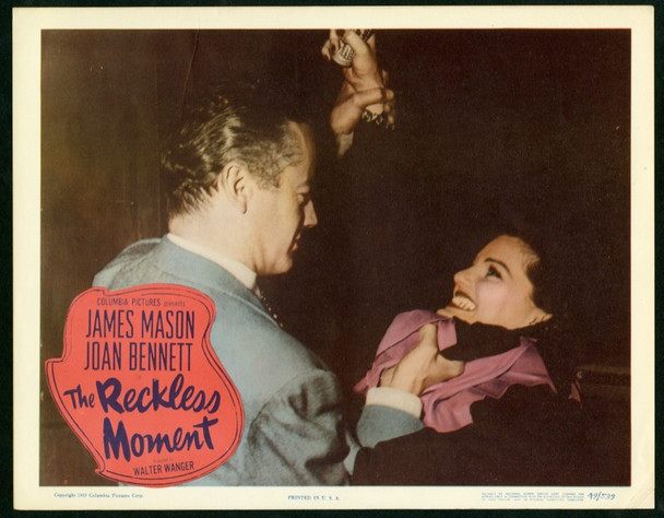 RECKLESS MOMENT, THE (1949) 25365 Original Columbia Pictures Scene Lobby Card (11x14).  Very Fine Condition.