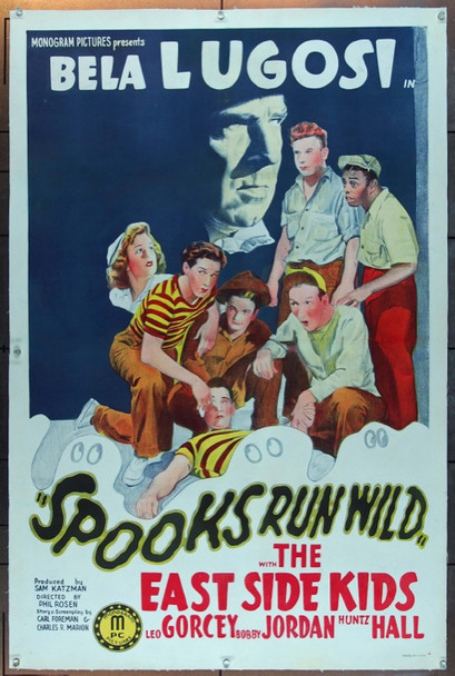SPOOKS RUN WILD (1941) 25379 Original Monogram Pictures One Sheet Poser (27x41).  Linen-Backed.  Fine Plus Condition.