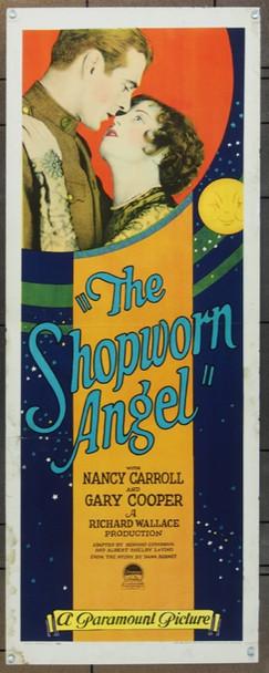 SHOPWORN ANGEL, THE (1928) 5456 Paramount Original Insert Poster   14x36  Very Good Plus Condition