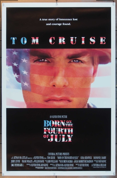 BORN ON THE FOURTH OF JULY (1989) 1706 Original Universal Pictures One Sheet Poster (27x41).  Rolled.  Near Mint.