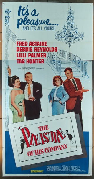 PLEASURE OF HIS COMPANY, THE (1961) 9245 Paramount Original Three Sheet Poster   41x81  Folded  Fine Plus Condition