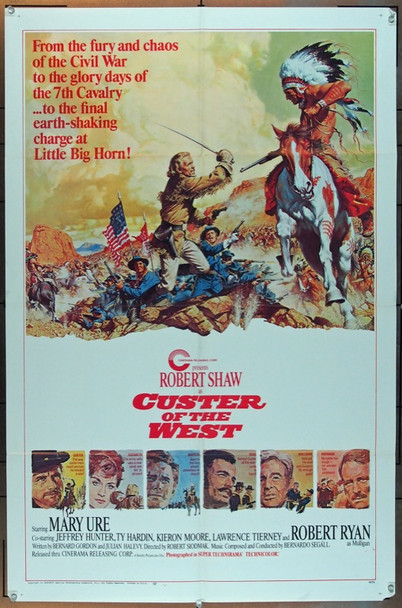 CUSTER OF THE WEST (1967) 18516 Original Cinerama Releasing Style A One Sheet Poster (27x41).  Folded. Fine Condition