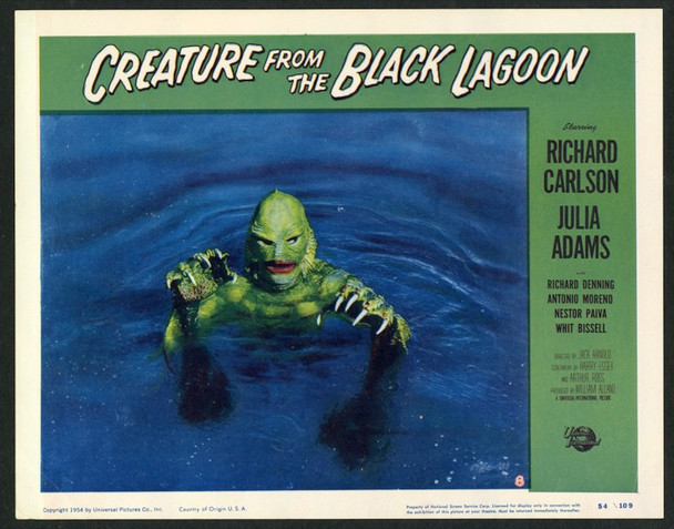 CREATURE FROM THE BLACK LAGOON  (1954) 22205 Original Universal International Pictures Scene Lobby Card (11x14). Near Mint.