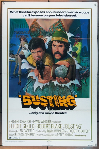 BUSTING (1974) 4991 United Artists Original One Sheet Poster (27x41).   Folded.   Fine Condition