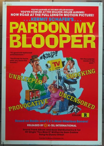 PARDON MY BLOOPER (1974) 4990 Original K-Tel International One Sheet Poster (27x41).  Folded.  Fine Plus Condition.