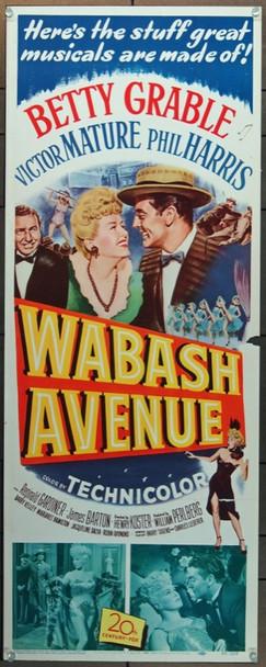 WABASH AVENUE (1950) 1056 20th Century Fox Original Insert Poster    14x36    Rolled   Fine