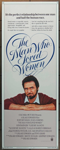 MAN WHO LOVED WOMEN, THE (1983) 1049 Original Columbia Pictures Insert Poster (14x36).  Rolled.  Very Fine Plus Condition.