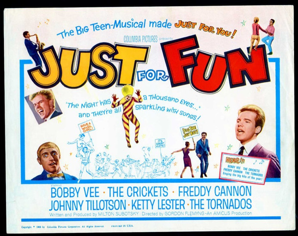 JUST FOR FUN (1963) 19454 Original Columbia Pictures Title Lobby Card (11x14).  Very Fine Condition.