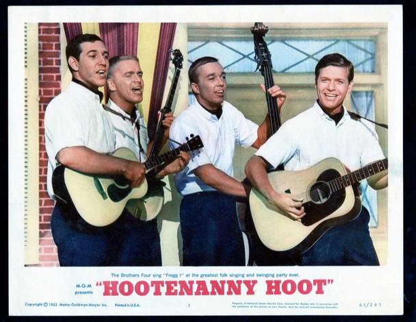 HOOTENANNY HOOT (1963) 19453 Original MGM Scene Lobby Card (11x14).  Very Fine.