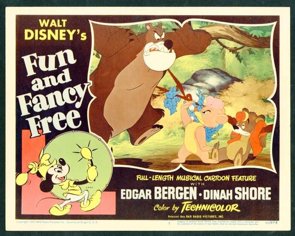 FUN AND FANCY FREE (1947) 6353 Original RKO Scene Lobby Card (11x14).  Near Mint Condition.