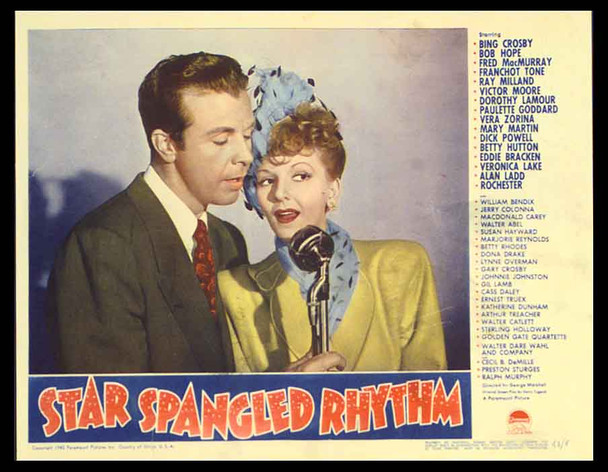 STAR SPANGLED RHYTHM (1942) 12496 Paramount Original Lobby Scene Card   11x14  Very Fine Condition