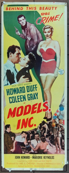 MODELS, INC. (1952) 17726 Mutual Insert Poster    14 x 36  Condition Fair