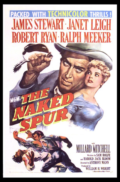 NAKED SPUR, THE (1953) 8729 Original MGM One Sheet Poster (27x41).  Linen-Backed.  Fine Plus To Very Fine Condition.
