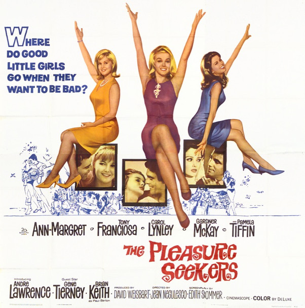 PLEASURE SEEKERS, THE (1965) 13790 20th Century Fox Original Six Sheet Poster   81x81  Fine Plus