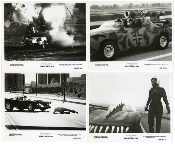 DEATH RACE 2000 (1975) 19314 Original New World Pictures Group of Four Gelatin Silver Photographs (8x10).  Very Fine Condition.