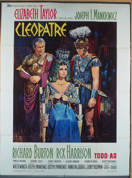 CLEOPATRA (1963) 13765 20th Century-Fox French Grande Poster (47x63).    Folded.   Fine Plus Condition.