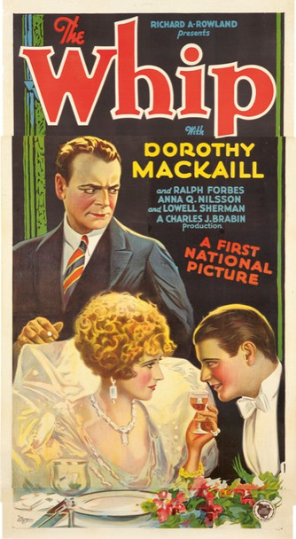 WHIP, THE (1928) 25388 First National Original Three Sheet Poster    49 X 76   Linen backed.  Fine Plus to Very Fine