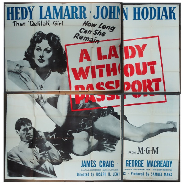LADY WITHOUT PASSPORT, A (1950) 5495 Original MGM Six Sheet Poster (81x81).  Folded.  Good To Very Good Condition.