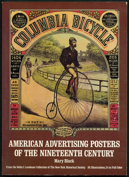 AMERICAN ADVERTISING POSTERS OF THE NINETEENTH CENTURY (1976) 25345 Dover Publications Anthology of Advertising Posters    11x14 Paperback book