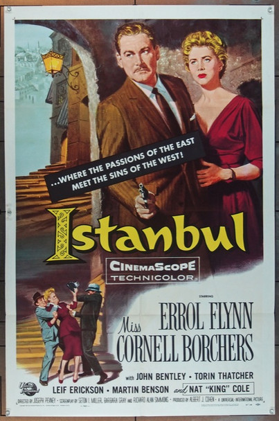 ISTANBUL (1957) 7011 Universal Pictures Original One Sheet Poster   27x41  Folded  Very Fine