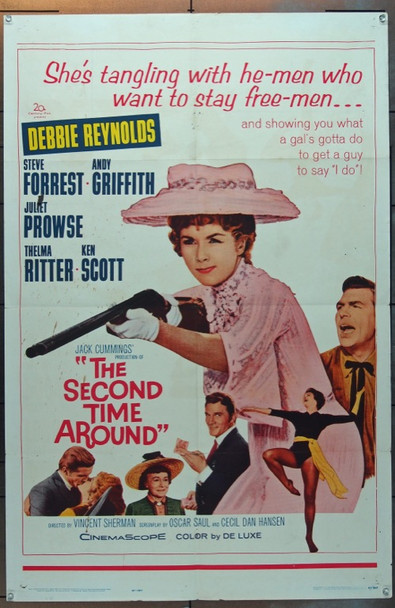 SECOND TIME AROUND, THE (1961) 11482 Original 20th Century-Fox One Sheet Poster (27x41).  Folded.  Very Good.