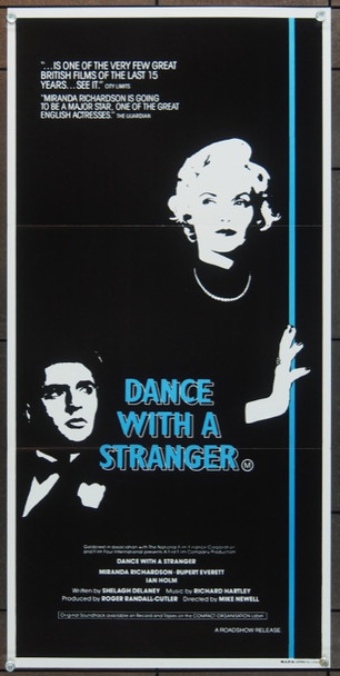 DANCE WITH A STRANGER (1985) 5523 Original Australian Daybill (14x30).  Folded.  Very Fine Condition.