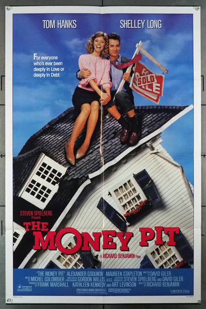 MONEY PIT, THE (1985) 3239 Original Universal Pictures One Sheet Poster (27x41).  Folded.  Very Fine Condition.