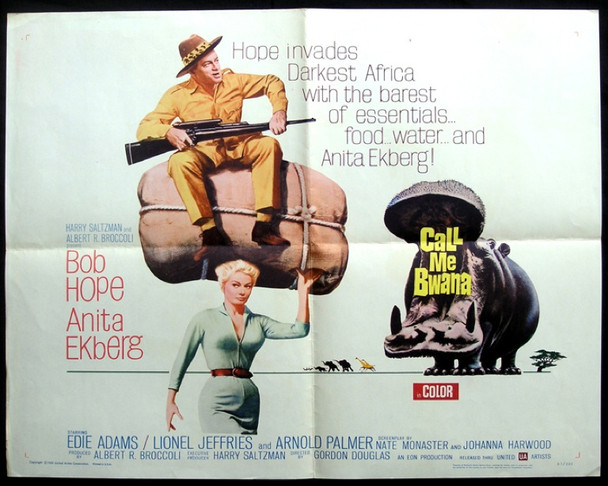 CALL ME BWANA (1962) 8661 Original United Artists Half Sheet Poster (22x28).  Folded.  Fine Condition.