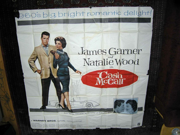 CASH MCCALL (1960) 17475 Warner Brothers Six Sheet Poster  81x81 Folded  Theater Used  Very Good