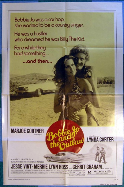 BOBBIE JO AND THE OUTLAW (1976) 16283 Original American International Pictures One Sheet Poster (27x41).  Folded.  Very Fine/