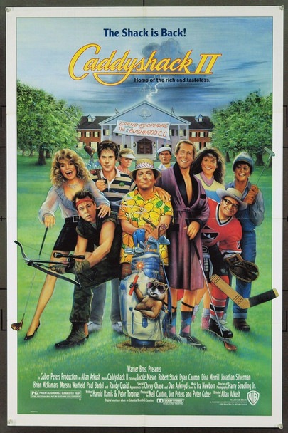 CADDYSHACK II (1988) 6824 Warner Brothers Original One Sheet Poster (27x41).  Rolled.  Fine Condition