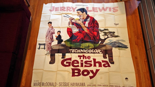 GEISHA BOY, THE (1958) 14563 Original Paramount Pictures Six Sheet Poster (81x81).  Assembled and Theater-Used.  Good To Very Good Condition.
