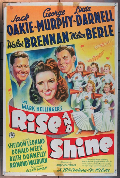 RISE AND SHINE (1941) 2110 20th Century Fox Original One Sheet Poster  27x41  Folded.  Good Condition