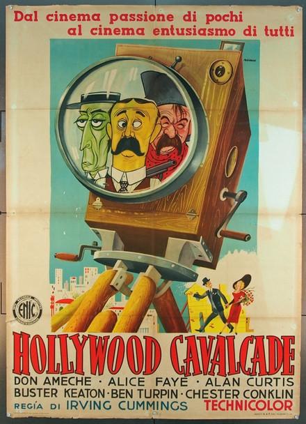 HOLLYWOOD CAVALCADE (1939) 25475 Italian original Due Foglio Poster  (39x55)  Folded.   Fine condition.  Art by Michele Majorna