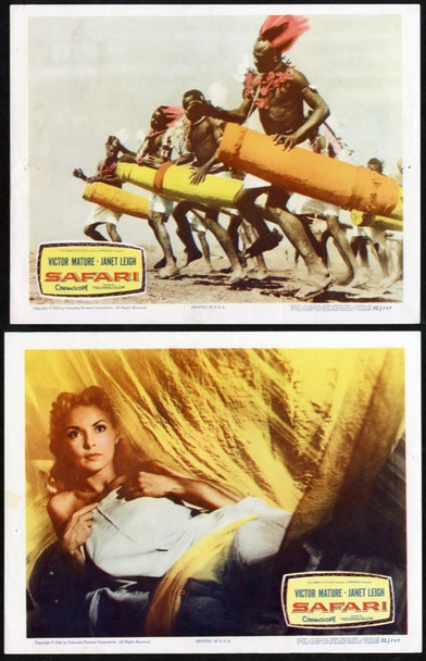SAFARI (1956) 14832 Original Columbia Pictures Group of 7 Lobby Cards (11x14).   Very Good to Very Fine Condition