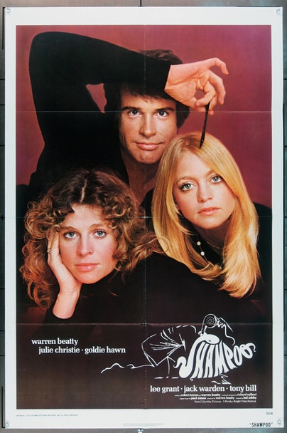 SHAMPOO (1975) 1519 Columbia Pictures Original One Sheet (27x41).   Folded.   Fine Plus To Very Fine.